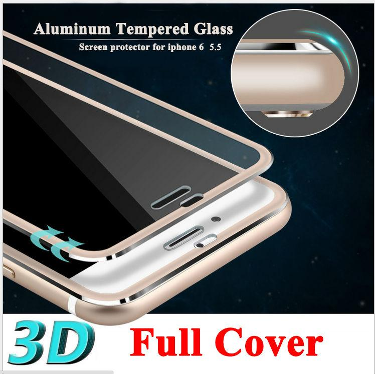039fc343ff6 Full Cover 3D Tempered Glass For Iphone 6 Plus 6S Plus 7 8 Screen Protector  Curved Round Edge Rose Gold Silver Black Color Scratched Screen Protector  ...