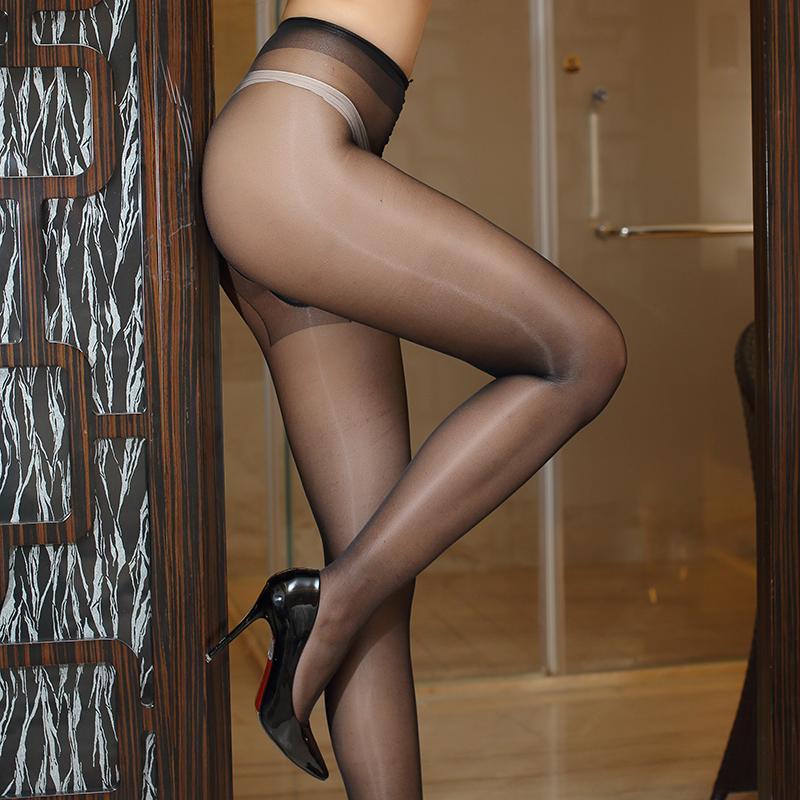 37f47eecfb8 Women s Oil Shine Tights Sexy Glitter Pantyhose Reinforced Cotton Crotch  12D Ultrathin Lustre Collant Free Size ROSESAKURA 0801