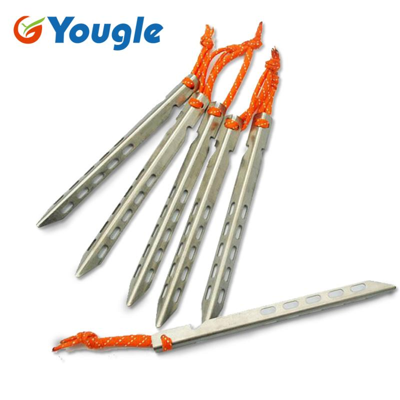 YOUGLE 16cm Titanium Alloy Ultra Light High Strength V Shaped Tent Pegs Outdoor C&ing Equipment Traveling Stake Nail Accessory The Best Binoculars Best ...  sc 1 st  DHgate & YOUGLE 16cm Titanium Alloy Ultra Light High Strength V Shaped Tent ...