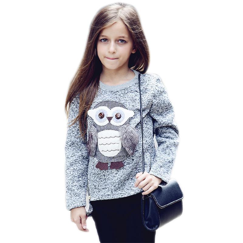Compre Meninas Adolescentes Suéter Para 9 10 11 12 15 7 5 Anos Completa  Manga Roupas De Menina De Algodão Crianças Dos Desenhos Animados Camisolas  Roupas De ... a8d444c91c7