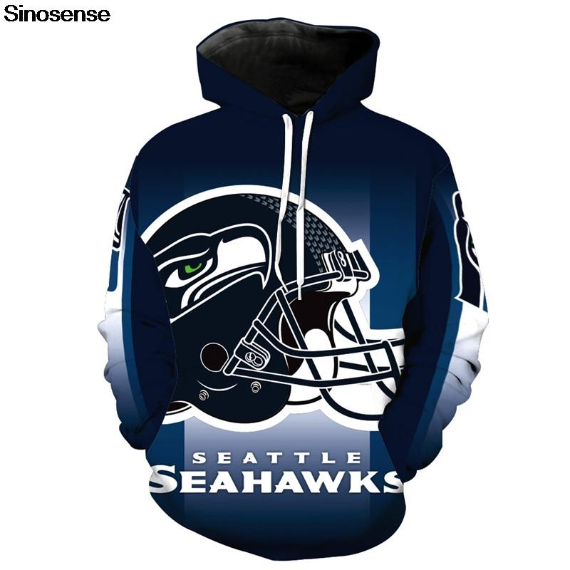 7e92624b Eur Size Seattle Seahawks Hoodies Men Women Autumn Winter Long Sleeve  Hoodie Sweatshirt 2019 Tracksuit 3D Clothes Pullover Tops