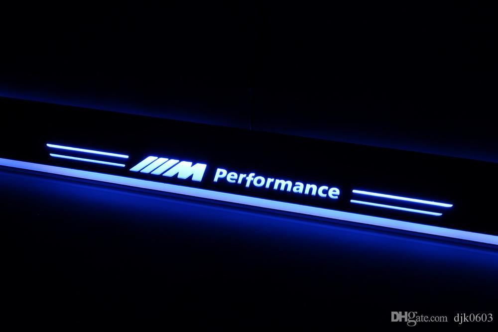 2X مخصص الصمام تشغيل اكسسوارات السيارات الزخرفية عتبة الباب جرجر لوحة ترحيب دواسة ضوء لسيارات BMW X1 E84 من 2011-2015