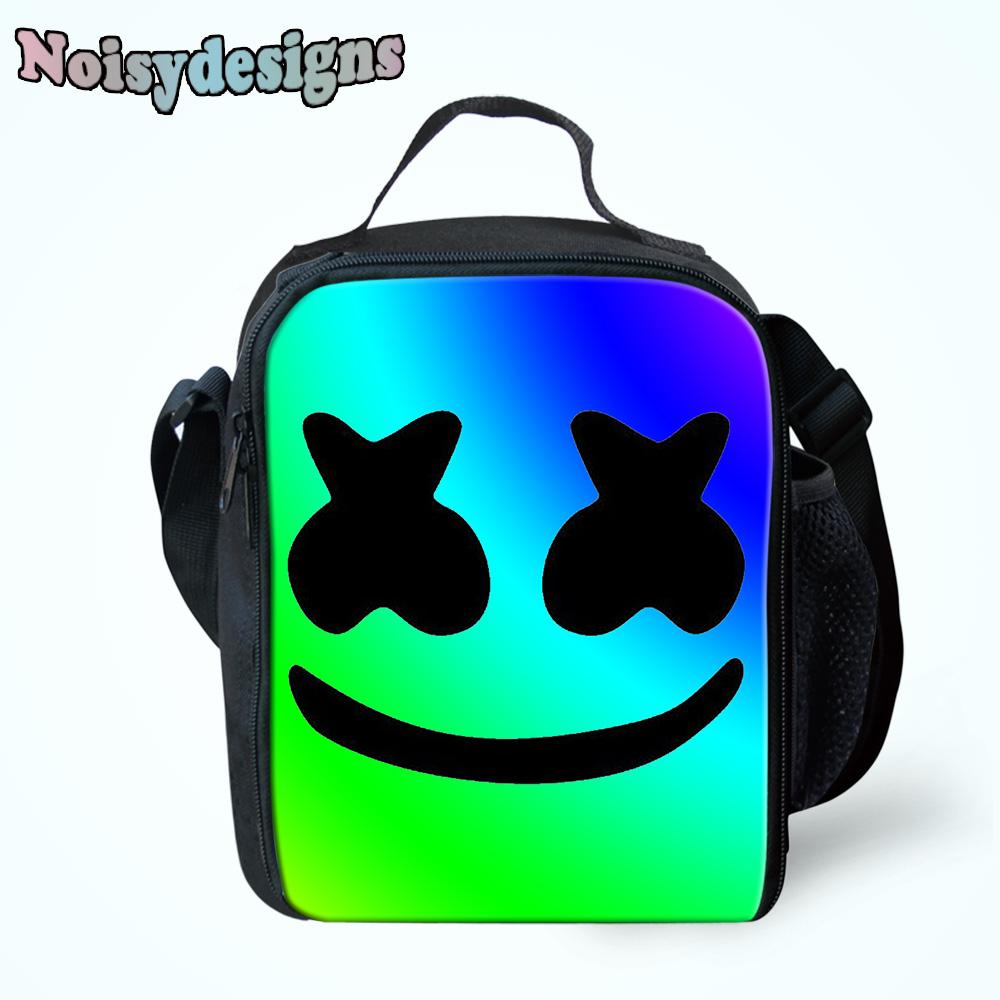 71455a8fed3b NOISYDESIGNS Marshmello Printing Lunch Bag Children School Thermal  Insulated Cooler Lunch Box Cases For Kids Girls Adult