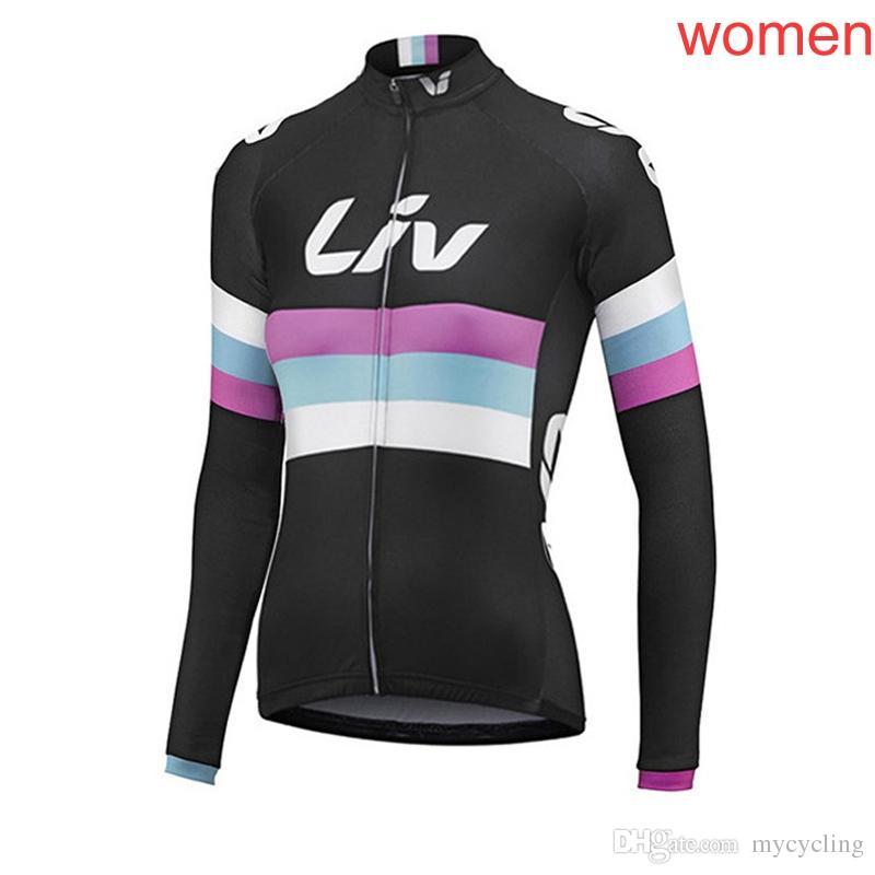 Pro Team LIV Women s Cycling Jerseys Bike Mountain Long Sleeve Shirt  Bicycle Jersey Cycling Clothing Spring autumn Cycling Wear F2326 LIV Cycling  Jerseys ... 74a5260a2