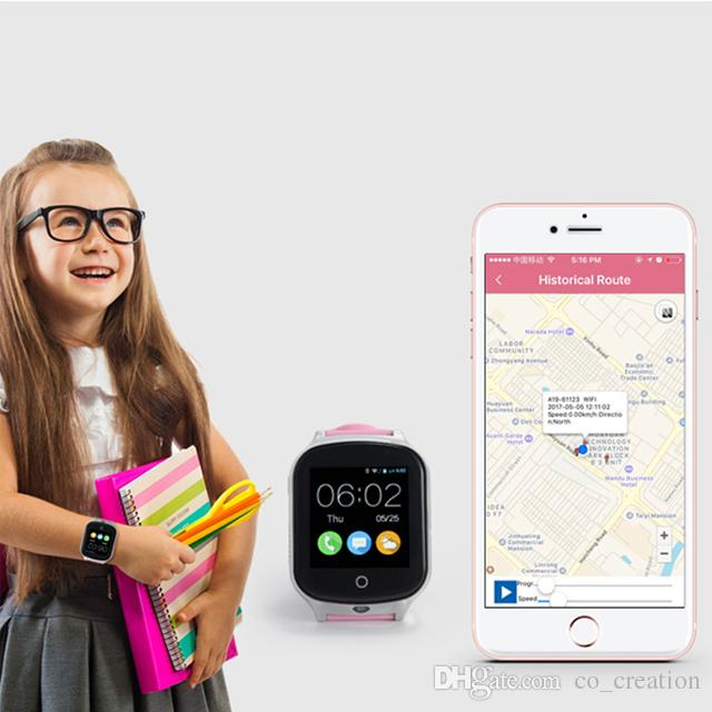 Hot sell A19 3G Smart GPS Watch Elderly Kids Smart watch WIFI Locator Camera Sim Voice Message SOS Free APP IOS Android