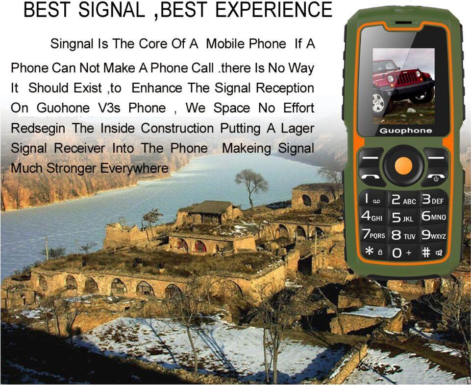 Original V3S IP67 Waterproof shockproof dustproof Dual SIM Card mobile phone 4000mAh battery 2G big speaker cell phone