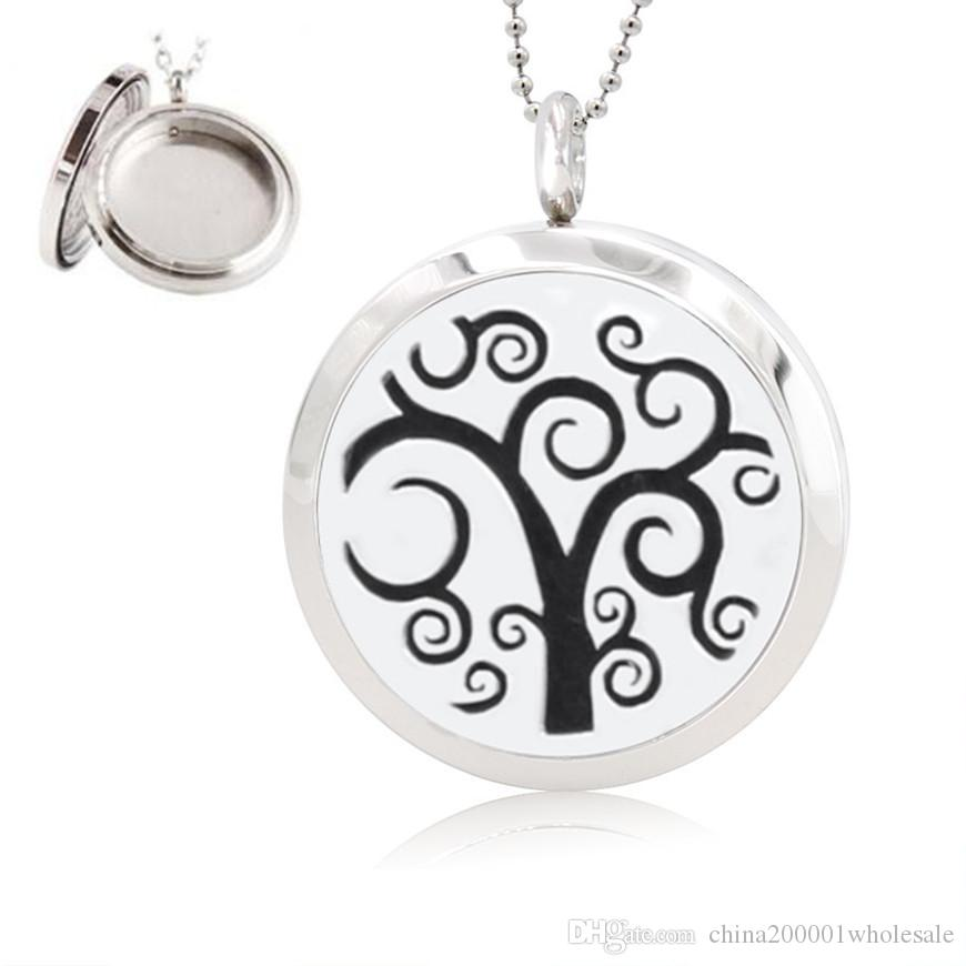 New Heart 30mm Aromatherapy / Essential Oils surgical Polish Twist Screw 316L Stainless Steel Perfume Diffuser Locket Necklace
