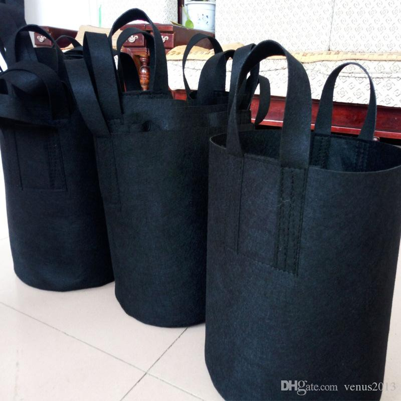 Round Non-woven Fabric Plant pots Pouch Root Container Grow Bag Aeration Flower Pots Container Garden Planters