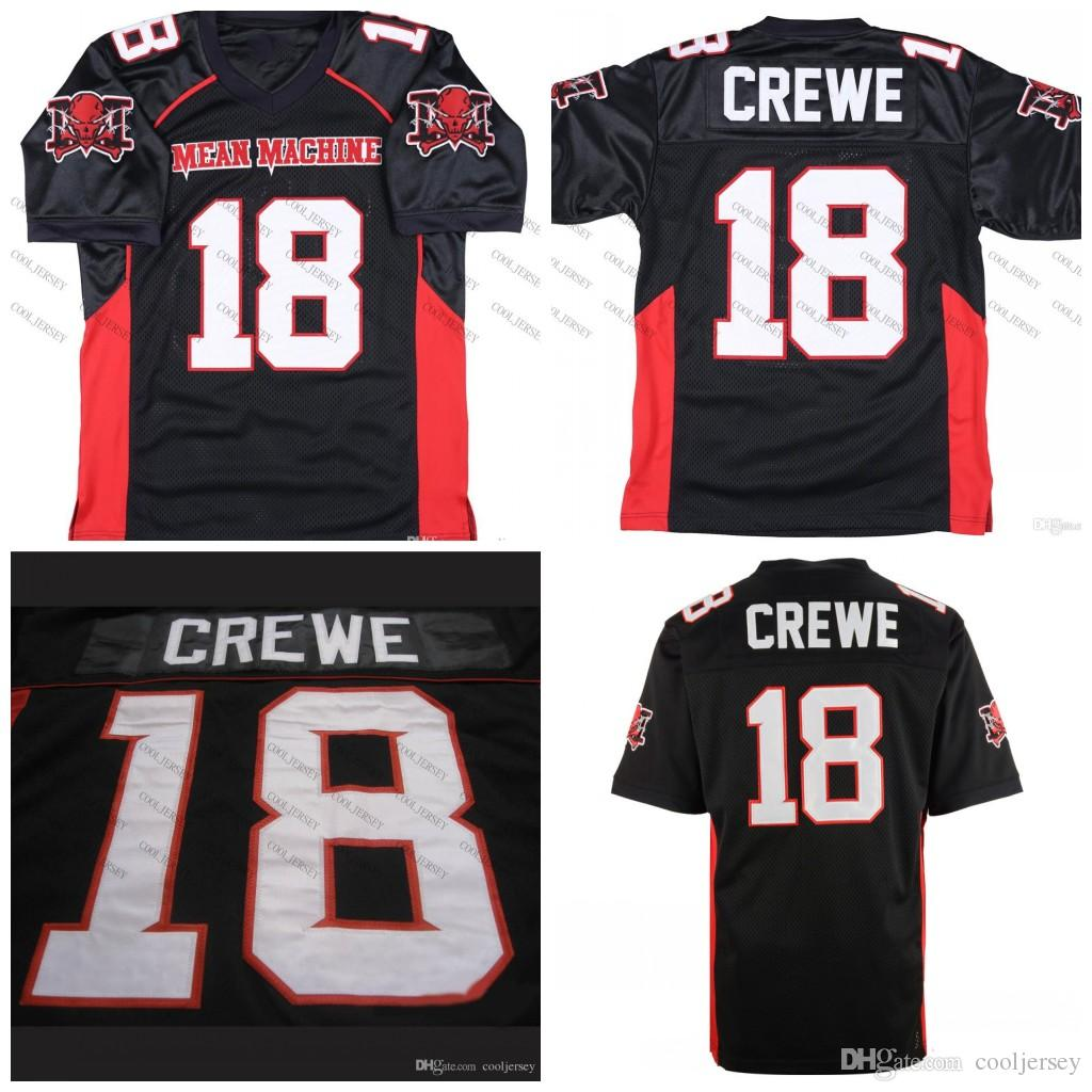 a4cc8420f Mean machine sandler paul crewe the longest yard football movie jersey  black stitched top quality from