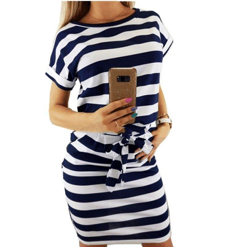 Großhandel Lossky Dress Frauen Sommer 2018 Sexy Spitze Gürtel Oansatz  Kurzarm Dünnes Minikleid Gestreifte Sommer Verbandkleider Plus Größe Von  Bestshirt003, ... a68c4b5d8f