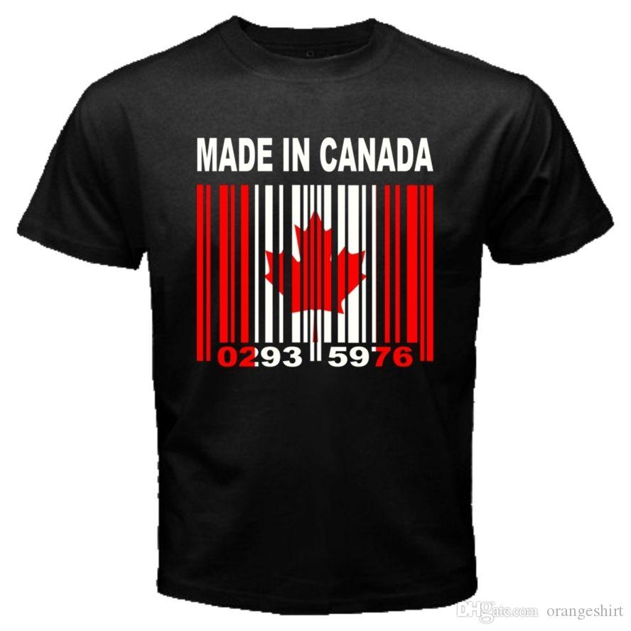 MADE IN CANADA Canadian Toronto Montréal Flag CUSTOM BARCODE NUMBERS  T-shirt Y83