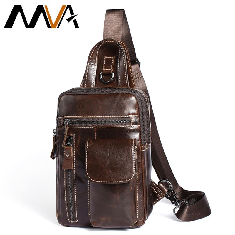 8420c40baa MVA Men S Genuine Leather Messenger Bag Men Shoulder Bags Male Chest Pack  Crossbody Bags For Men Chest Bag Sling Leather 8871 S914 Crossbody Purses  Designer ...