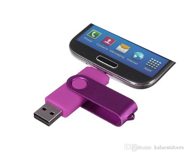 64GB 128GB 256GB OTG Externo Unidade Flash USB para Android Smartphones tablets Pendrives U discotives Disk Beacket Shipping