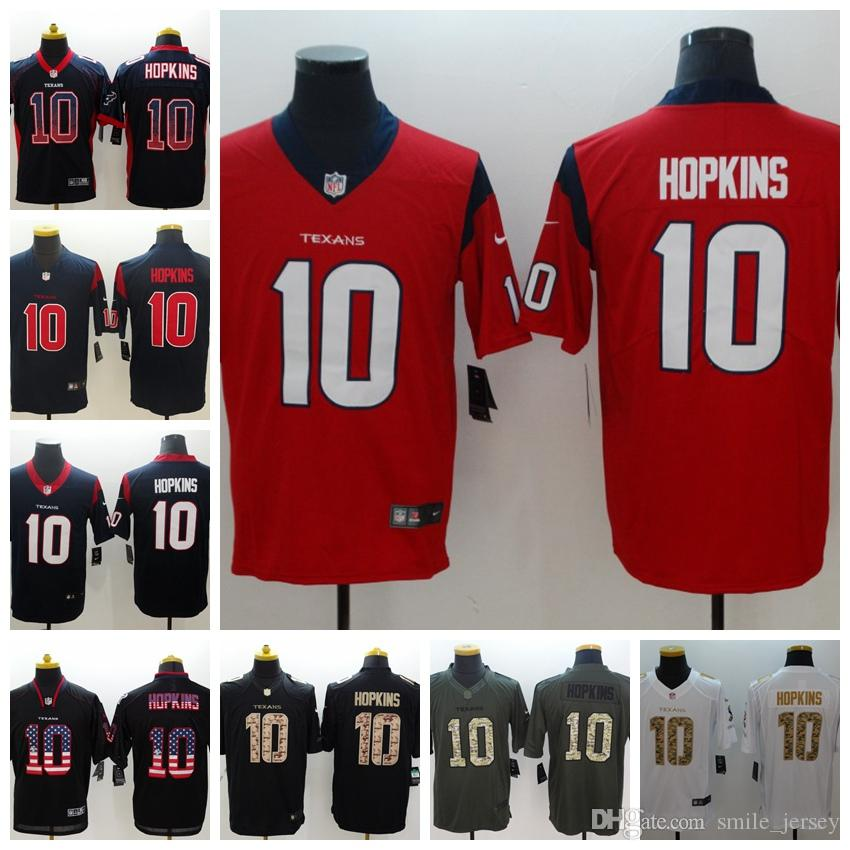ecb0c6b54 2019 2019 Mens 10 DeAndre Hopkins Houston Jersey Texans Football Jersey  100% Stitched Embroidery Texans DeAndre Hopkins Color Rush Football Shirt  From ...
