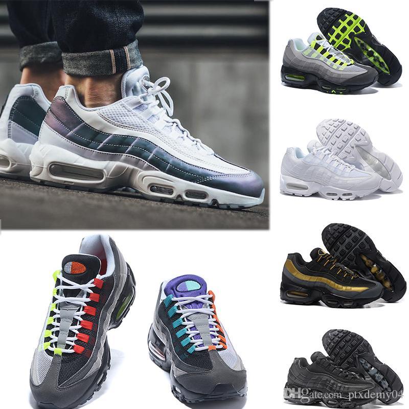 new style d152a 29c63 Compre NIKE Air Max 95 Envío De La Gota Al Por Mayor Zapatillas De Deporte Para  Hombre Tenis Airs Cojín 95 OG Sneakers Auténticas 95s Nuevo Descuento Para  ...
