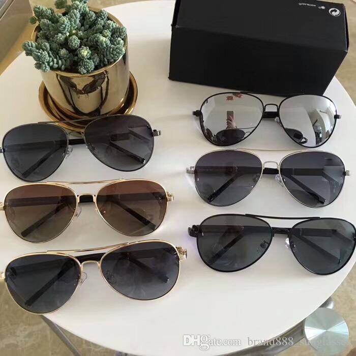 b4efb08aa Compre Novo Designer De Moda Óculos De Sol 19910 Metal Frame Quadrado  Clássico Simples Venda Quente Estilo Uv 400 Lente Polarizada Condução  Eyewear Para ...