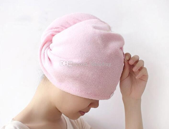 Gorro de pelo seco de alta calidad para dama, súper absorbente, secado rápido, gorro de ducha, toalla de abrigo, gorro para el cabello, mujeres, C3669