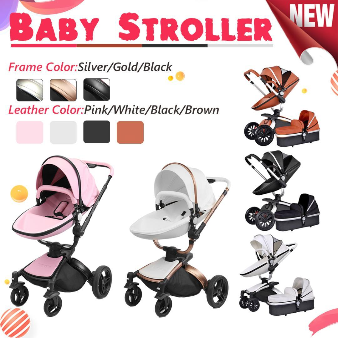 2018 2 In 1 3 Baby Stroller With Car Seat High Landscope Folding Carriage For Child From 0 Years Prams Newborns Xunqian