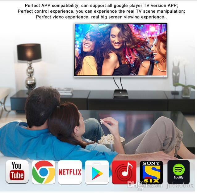 A95X PRO Voice Control Smart TV Box Android 7.1 Amlogic S905W 2GB 16GB H.265 4K streaming Media Player PK M8S Pro