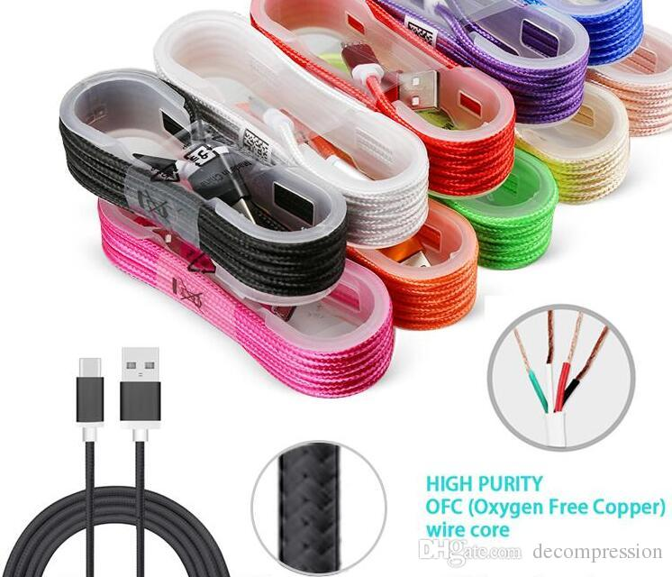 1.5M USB TO USB C Charging Cable USB Cable Charger Sync Data Charging Cable Cord for Android Cellphone without Package free DHL.