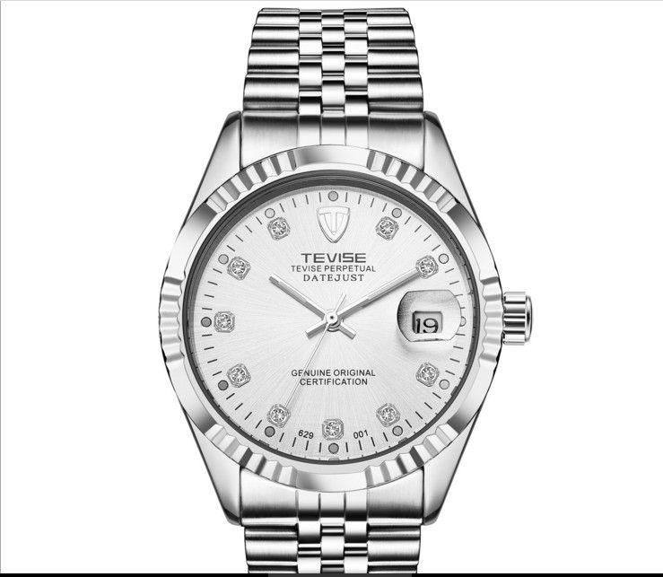 أعلى رجل جديد الساعات الميكانيكية الرجال ماء الأزياء عالية الجودة الساعات الميكانيكية ساطع الماس التقويم الرجال ووتش