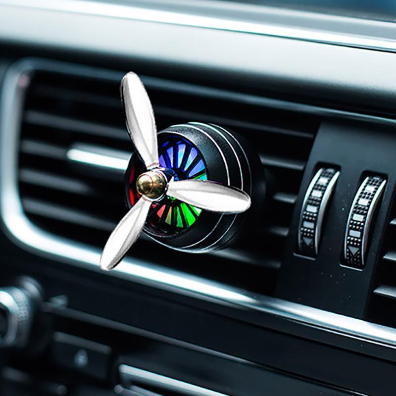 Car Perfume Diffuser Air Freshener Led Light Air Force 3 Car Air