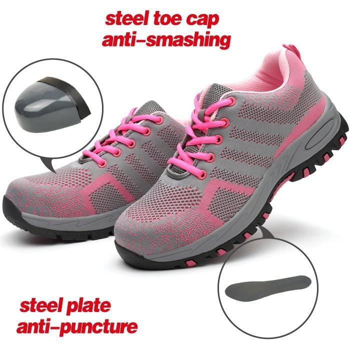 4e73f52f3caf Women Durable Breathable Protective Shoes Breathable Air Mesh Steel Toe  Caps Work Safety Shoes Anti-Smashing Puncture Proof Shoes Online with   165.26 Piece ...