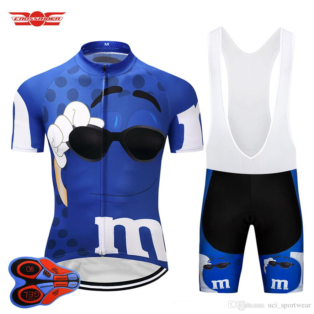 Crossrider 2018 Blue MMS Cycling Jersey Bib Sets MTB Shirt Bike Clothing  Bicycle Wear Clothes Men Short Maillot Culotte Suit Cycling Jersey Funny  Cycling ... 1b42301bd