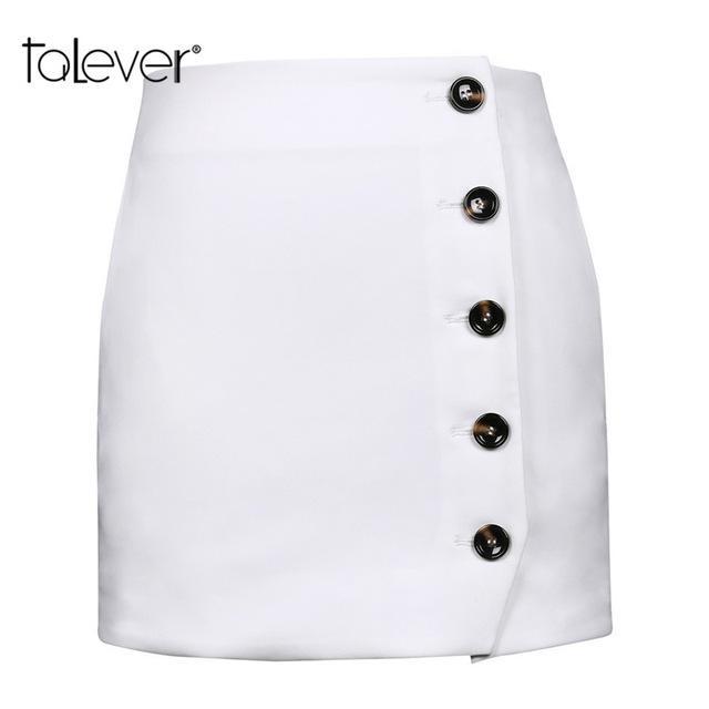05e79b74507 Women Sexy Bodycon Pencil Mini Skirt Female EleButton White Wrap Skirts  Women s Party Club Short Skirts Plus Size Talever
