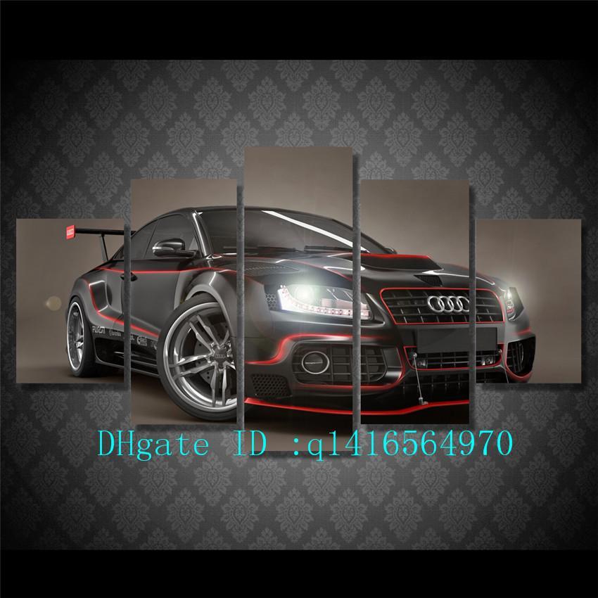 Acheter Audi Sports Car Toile Art Mural Peinture à Lhuile Décor