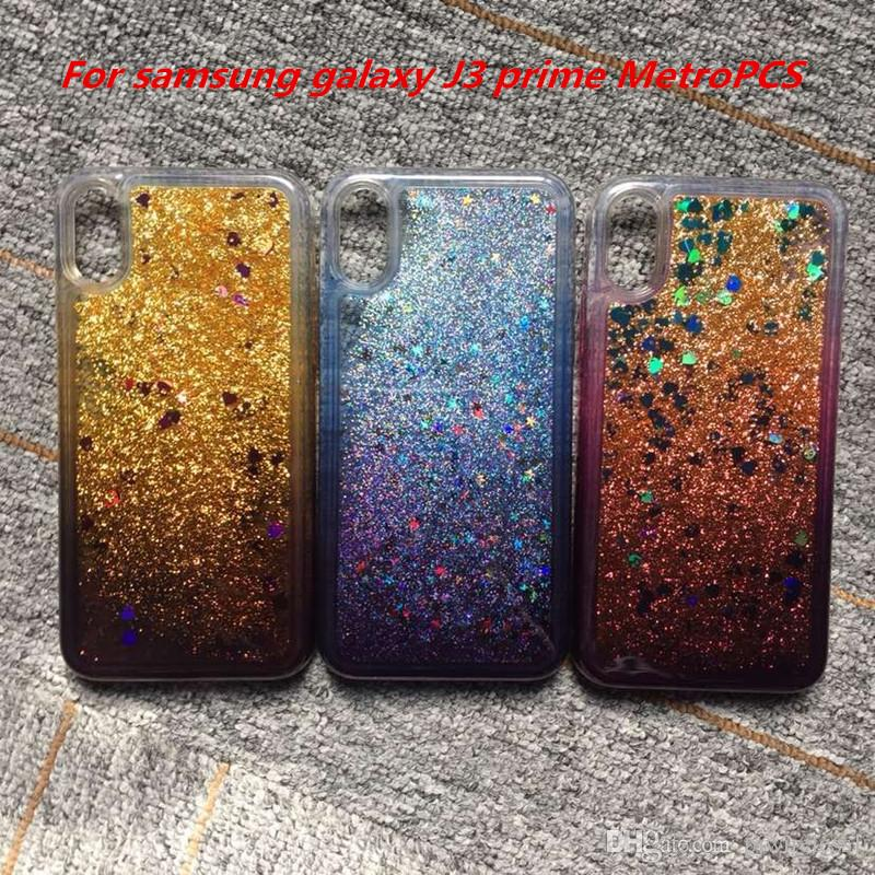 Quicksand Case For samsung galaxy J7 prime MetroPCS J3 prime MetroPCS For  LG stylo 3 plus MetroPCS Armor Change Color tpu Cover C