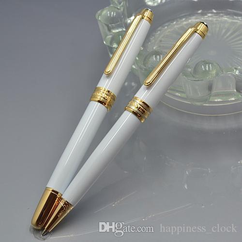 Meisterstucks 163 resina bianca e clip dorata Roller ball pen Penne a sfera business Forniture ufficio e MB Gem Germania numero di serie