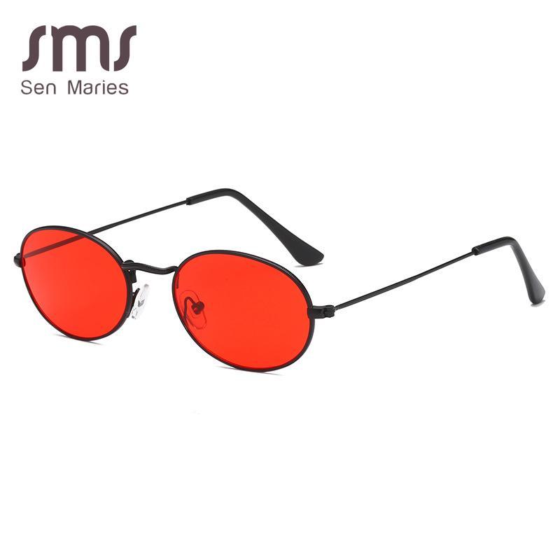 5e7ca8cdabd6c ... Small Oval Sunglasses Women Brand Designer Red Sliver Clear Sun Glasses  For Men Women Retro Wrap Coating Mirror UV400 Suncloud Sunglasses Foster  Grant ...
