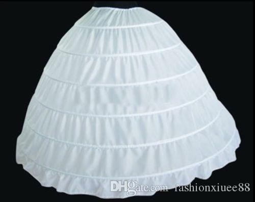 6 HOOP Wedding Ball Gown Crinoline Bridal Dress Accessories Evening Prom Bride Petticoat Skirt Underskirt slip 2018
