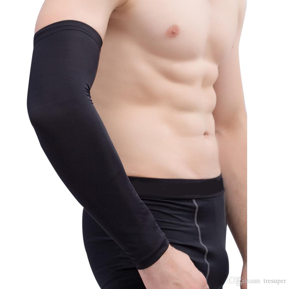 Unisex Compression Arm Warmer Sun UV Protection for Sports Running Bike Cycling Basketball Football Sleeves Arm Cover