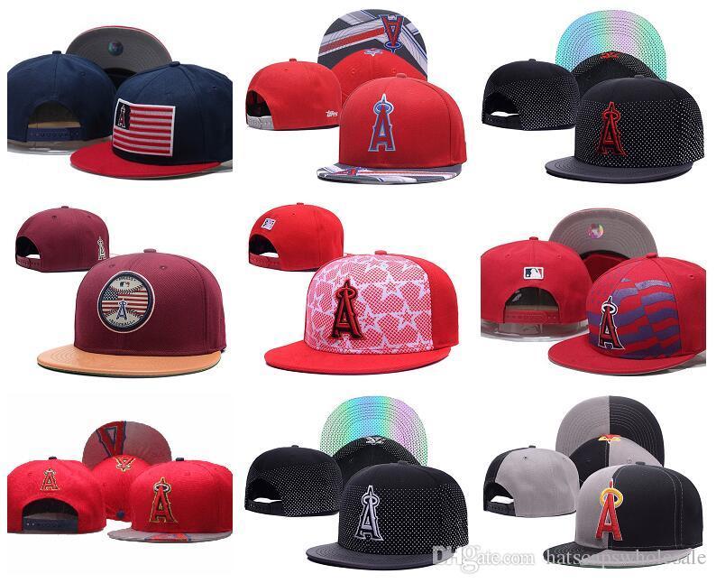 Оптовая дешевые Ангелы Snapback Cap в бейсбол бренды популярные хип-хоп плоские летние двери регулируемая шляпа вышитые логотип спортивные шляпы мужские