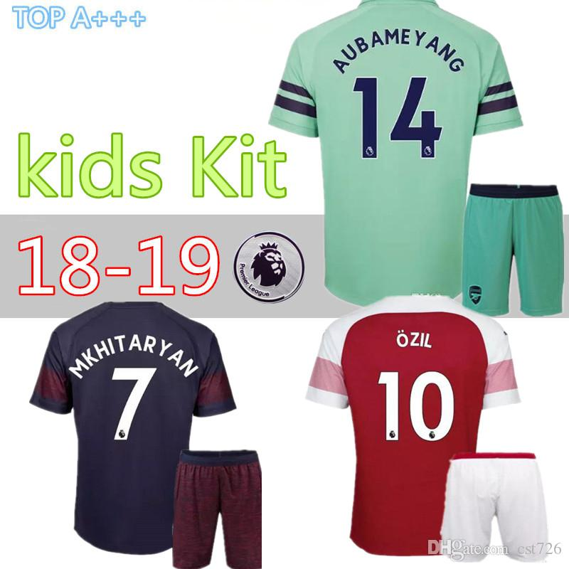 040b94178 18 19 Arsenal Home Away Third Kids Kit Soccer Jersey  9LACAZETTE ...