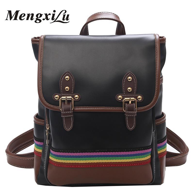 Big Women Backpack High Quality School Bags For Teenage Girls Backpack  Large Capacity Women Bags Designer Pu Leather Backpacks Cheap Backpacks Big  Women ... ad0b549697a3f