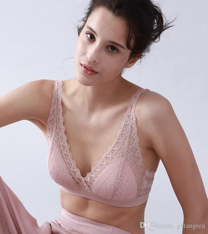 83356e6c93d 2019 Lace 100% Silk Silk Bra Natural Environmental Health Healthy Skin Fray  Lace Exquisite Detail Silk Lining Delicate Seams Lace Shoulder Strap From  ...