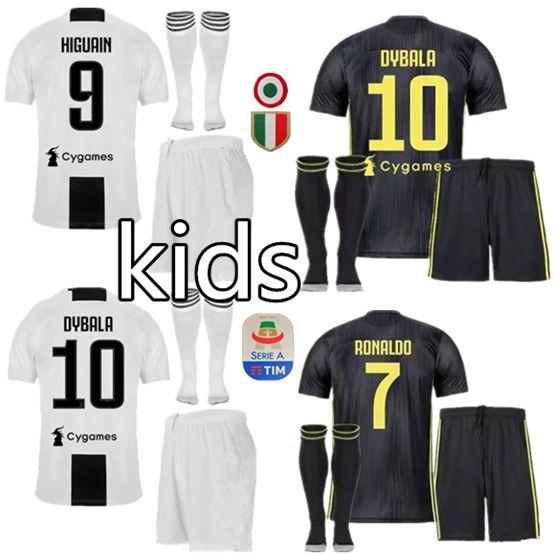 3de6e2dcc 2019 2018 2019 Juventus Home Soccer Jersey 18 19 7 RONALDO DYBALA Soccer  Shirt MARCHISIO MANDZUKIC PJANIC HIGUAIN Football Uniform Sales Kids From  ...