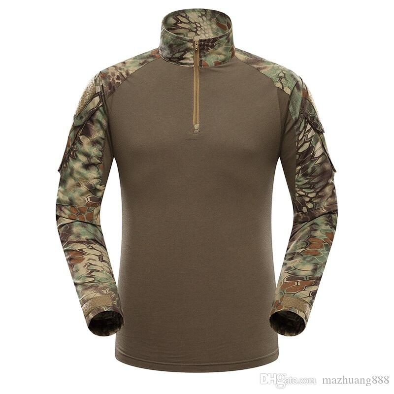 18fa909db09f Multicam Uniform Military Long Sleeve T Shirt Men Camouflage Army Combat  Shirt Airsoft Paintball Clothes Tactical Shirt T Shirs T Shirst From  Mazhuang888, ...