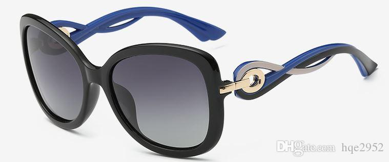 Kadın Tonları Klasik Boy Polarize Güneş Gözlüğü% 100 UV Koruma 8706