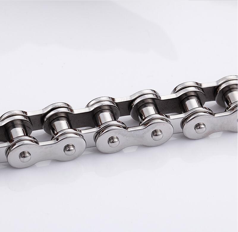 55CM Lange Herren-Fahrrad-Motorrad-Verbindungs-Ketten-Halskette für Männer Art und Weise Punk Edelstahl-Radfahrer-Fahrrad-Ketten männlich Halskette Zubehör