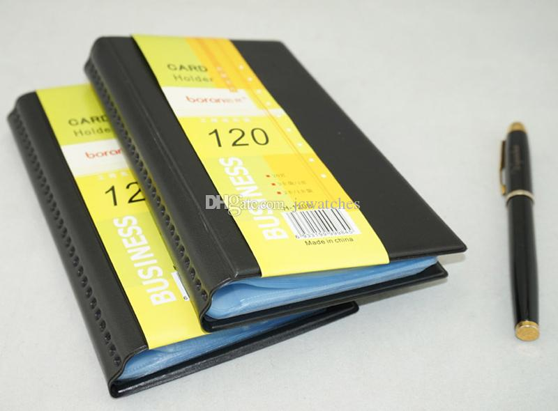 Portable 120 Cards Organizer Book Leather Business Name ID Credit Card Holder Keeper Wholesale