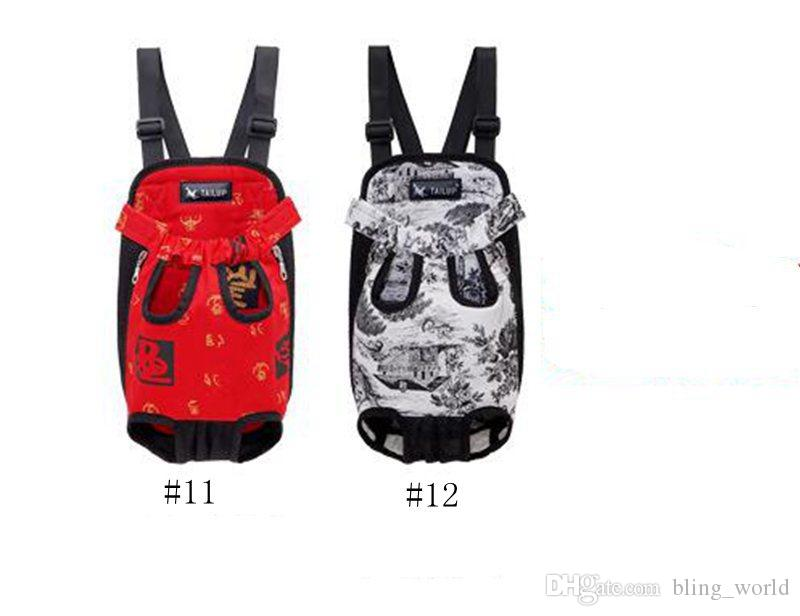 Brand Dog Carriers Pet Puppy Carrier Travel Dog Bag Carry Backpack Breathable Pet Bags Handbags Hammock 12 Designs YW1215