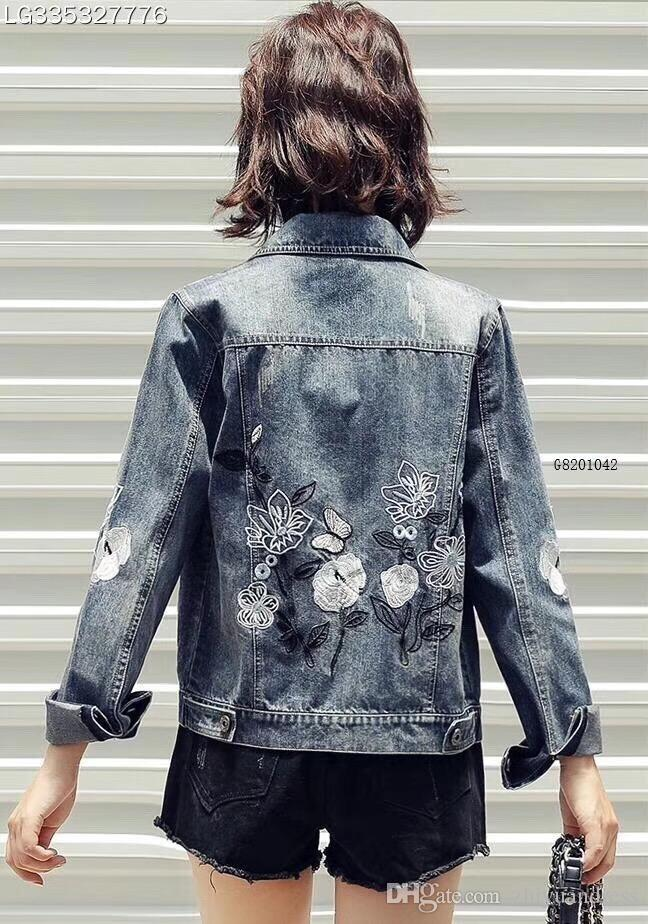 cc2c2ffca710 2018 Best Selling Wholesale Fashion Women Jean Jackets Embroideried ...