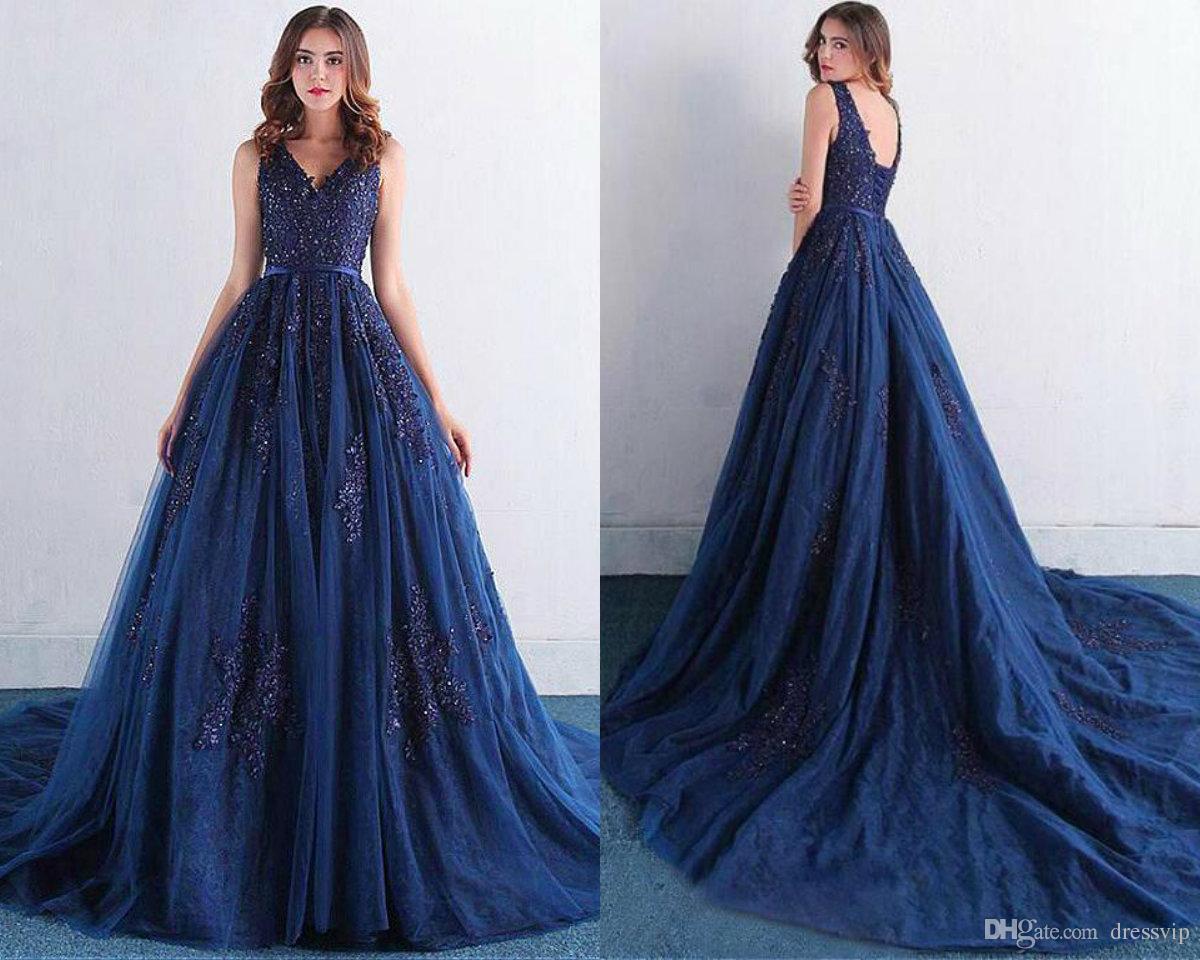 Robe tulle dentelle bleu