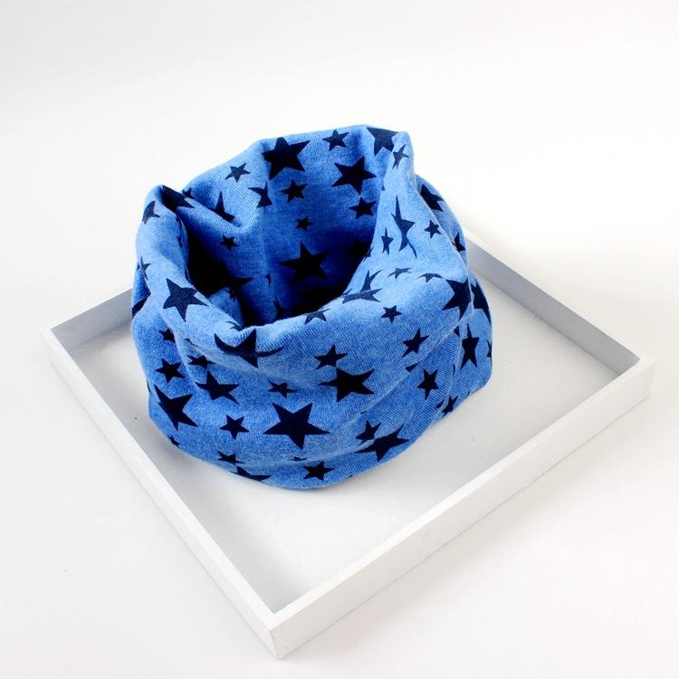 Spring and Autumn New Children's Scarf Cotton Pentacle Print Collar Boys and Girls Wild Fashion Warm Scarf