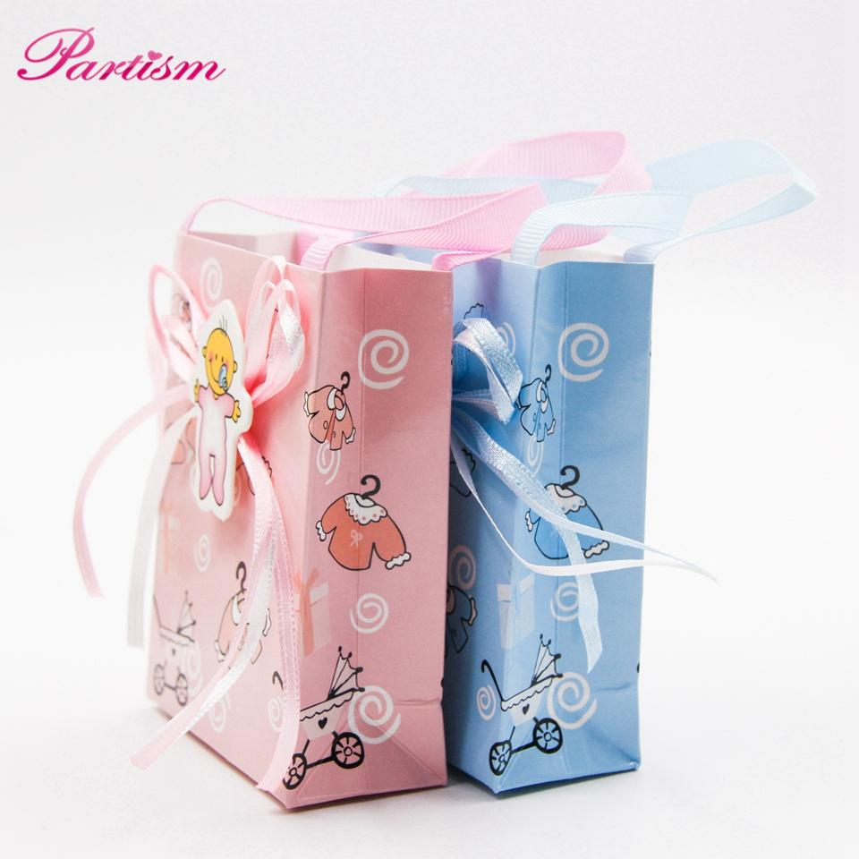 / Lotto Baby Boy / Girl Gift Box Cute Candy modello fai da te Baby Shower carta matrimonio / bomboniere regalo scatola gli ospiti feste