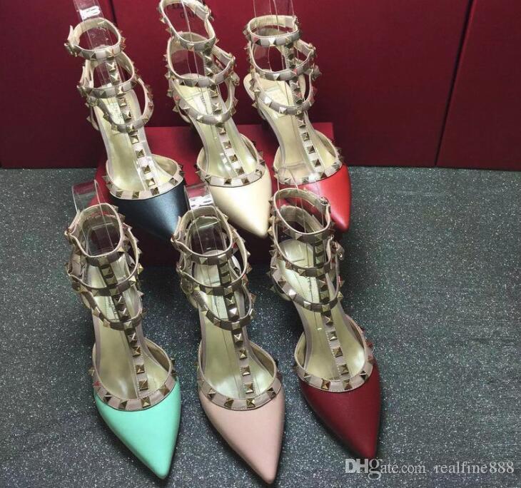 eh rockstud sangles sangles sangles rockstud cheville pompe chaussures de ballerine 53b981